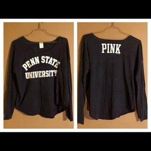 PINK VS Penn State University Blue Long Sleeve Top